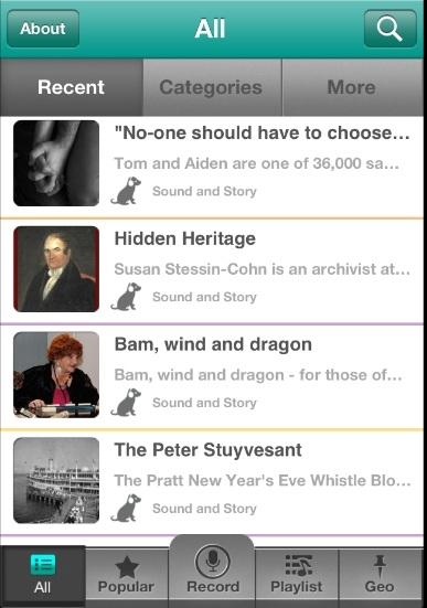 iphone app, free ios, download, oral history, stories, memoirs